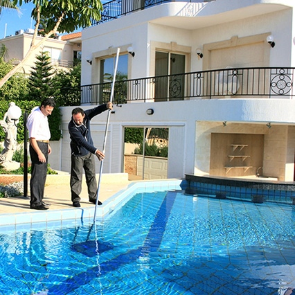 Cleaning pool garden riviera
